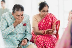 Parents during the Indian wedding rituals