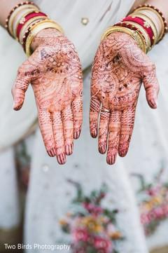 Mehndi design on the maharani's hands