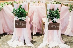 Special chairs for the Indian newlyweds
