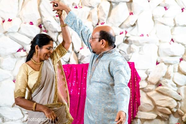 Raja's parents dancing