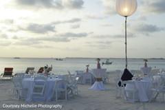 Marvelous Indian wedding table setup location.