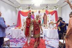 Enchanting Indian love birds at the end of ceremony.