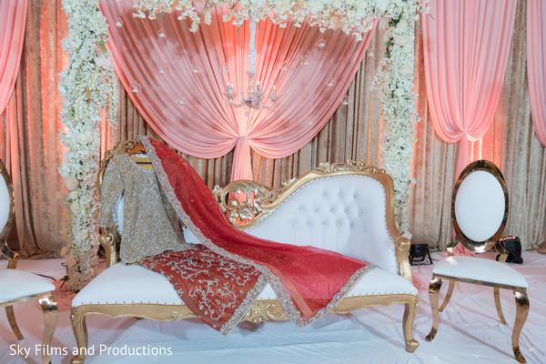 Wonderful Indian wedding stage decoration.