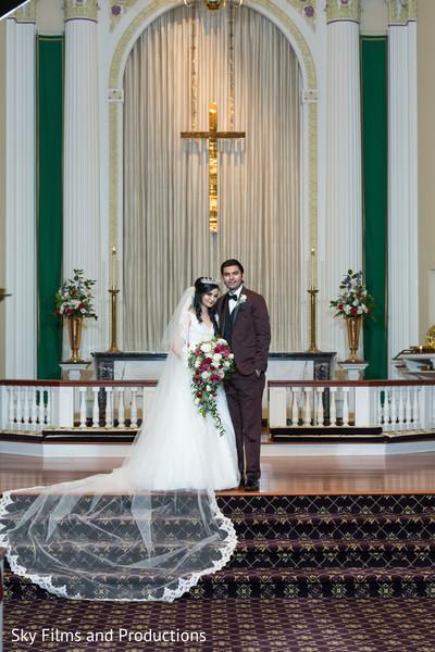 indian bride,indian bridal white wedding dress,veil,indian groom