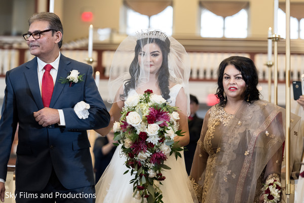 maharani,christian indian wedding ceremony,bouquet