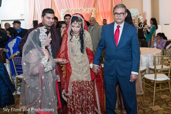 Indian bride with parents capture.
