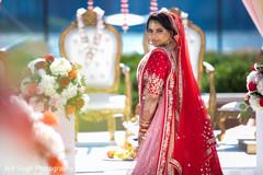 Beautiful Indian bride  portrait.