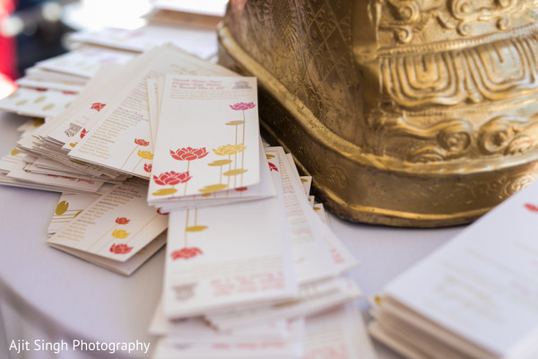 Marvelous Indian wedding ceremony printed guides.