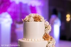 Indian wedding cake made flowers decoration capture.