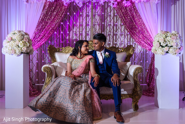 indian bride,indian groom,indian wedding reception fashion,reception stage