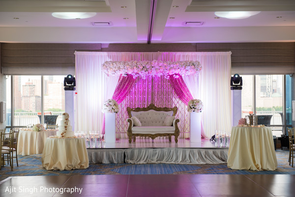 indian wedding reception,stage decor,cake
