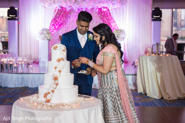 indian bride,indian groom,indian wedding reception,indian wedding cake