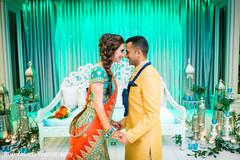 Ravishing Indian bride and Raja prior to the ceremony