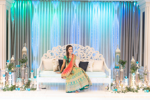 Beautiful Indian bride posing for pictures