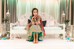Incredible shot of Indian bride before the ceremony