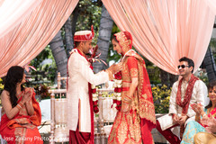 Maharani and Raja during their lovely ceremony