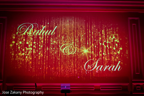 indian wedding reception decor,reception lights,personalized lights