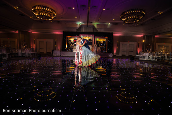 Lovely Indian couple reception dance.