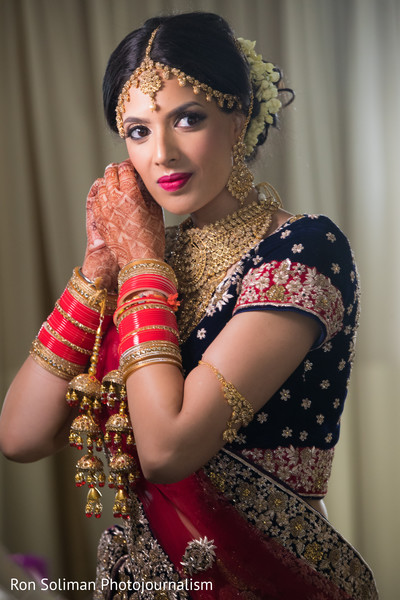 Beautiful Indian  bride's portrait.