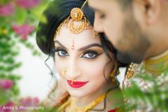 Stunning capture of Maharani flawless makeup.