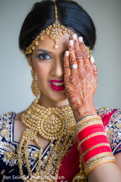 Dazzling Indian bride photography.