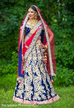 Glamorous Indian bridal portrait.