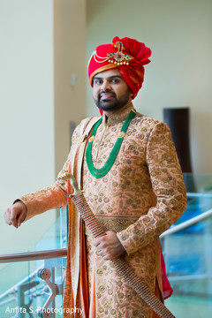 Charming indian groom capture.