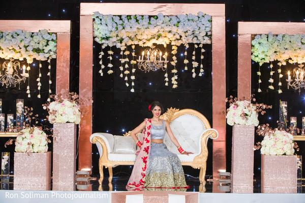 Elegant Indian bride with wedding reception fashion.