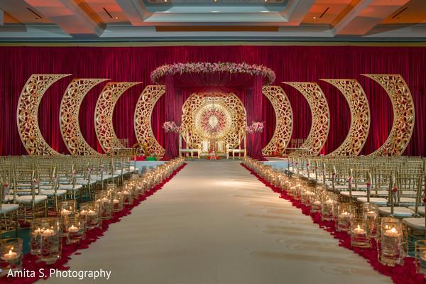 Marvelous Indian wedding ceremony seats setup.