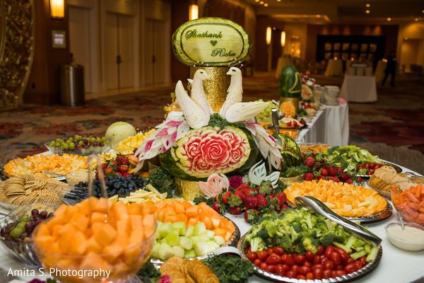 Magnificent Indian wedding treats table decor.