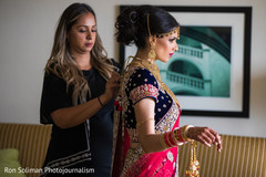 Marvelous Indian bride with her Open-shirt Lengha.