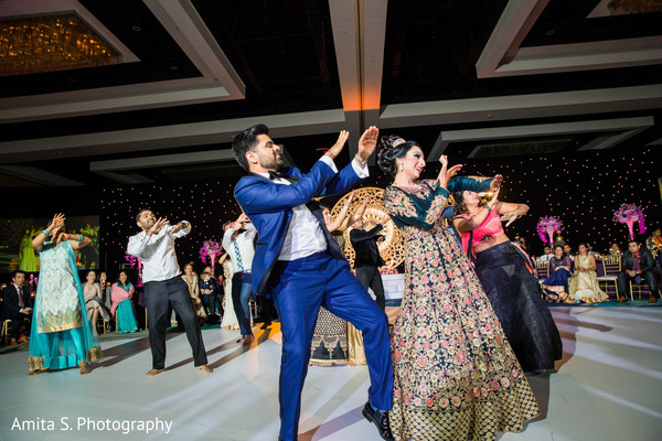Indian lovebirds having their reception dance.