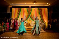Vibrant indian sangeet dance capture.