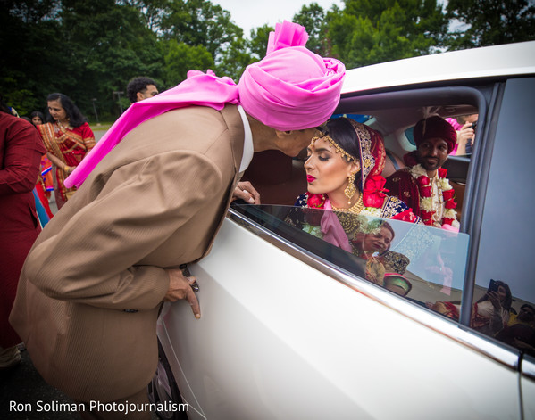 when bride says farewell to family.