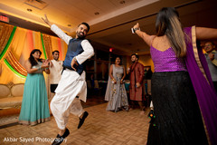 Upbeat Indian sangeet dance capture.