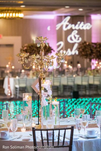 Magnificent Indian wedding table chandelier decor.