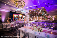 Amazing Indian wedding reception table setup.