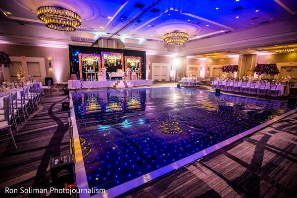 Amazing Indian wedding dance floor and reception decoration.