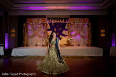 Enchanting Indian bride with her reception lehenga.