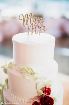 Cake details for the Indian wedding