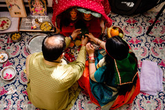 Indian pre-wedding rituals capture.