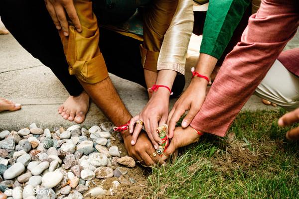 Special Indian pre-wedding ritual capture.