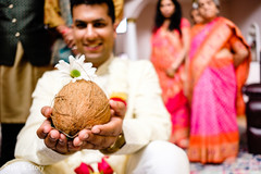 Indian pre-wedding ritual coconut.