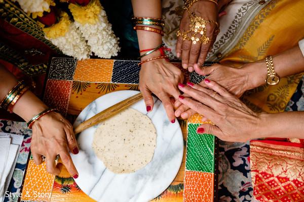 Pre-wedding Indian ritual capture.