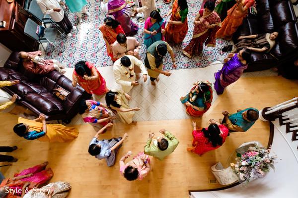 Indian pre-wedding Pithi dance.