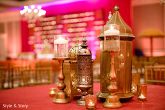 Magnificent Indian sangeet table decorations.
