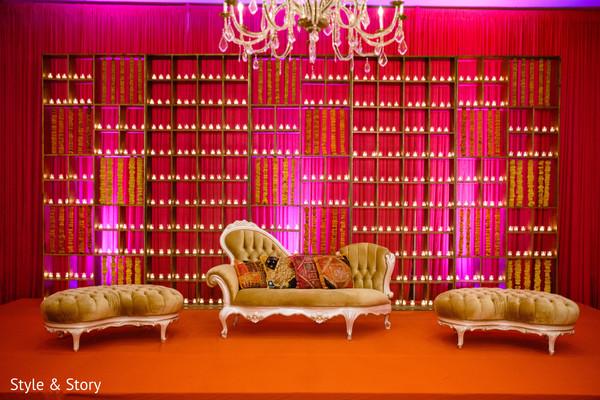 Marvelous Indian sangeet stage decoration.