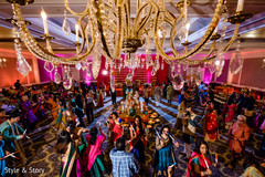 Magnificent Indian wedding garba dance.