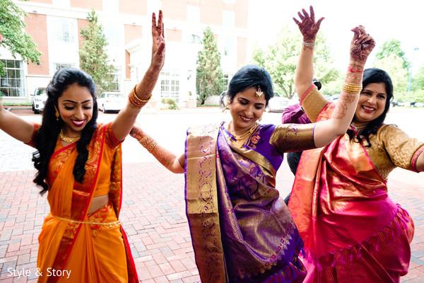Lovely dance at baraat celebratio