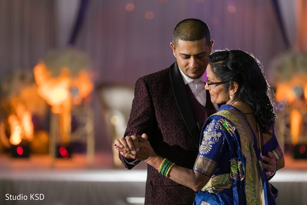 Raja and his mother dancing at the reception